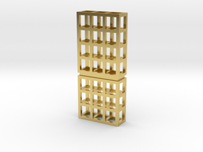 grid 001 in Polished Brass