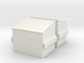 Dumpster (2 pieces) 1/56 in White Natural Versatile Plastic