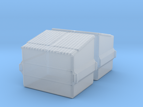 Dumpster (2 pieces) 1/285 in Smooth Fine Detail Plastic