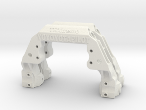 TRX-4 2x V1 servo on axle mount and 4-link adapter in White Natural Versatile Plastic
