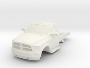 1/87 DODGE 2 DOOR SHORT CHASSIS in White Natural Versatile Plastic