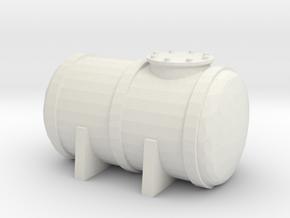 Petrol Tank 1/72 in White Natural Versatile Plastic