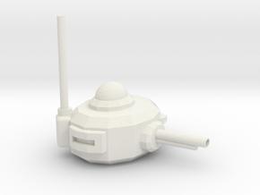 Turret in White Natural Versatile Plastic