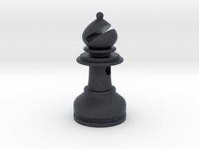 MILOSAURUS Jewelry Staunton Chess Bishop Pendant in Black PA12