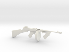 1/3 Scale 1928 Thompson Submachine Gun  in White Natural Versatile Plastic