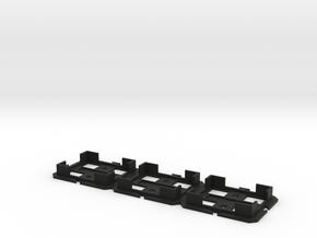 Filter Cube Holder for Three Zeiss or Nikon Filter in Black Natural Versatile Plastic