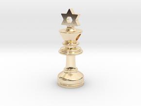 MILOSAURUS Jewelry David Star Chess King Pendant in 14K Yellow Gold