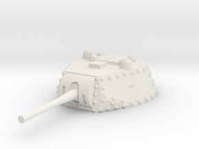 M13 40 Turret 1/72 in White Natural Versatile Plastic