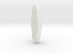 Wheel Pod for RC aircraft 40mmx15mm foam tire.  in White Natural Versatile Plastic