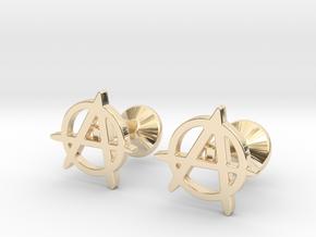 Anarchy Cufflinks in 14k Gold Plated Brass