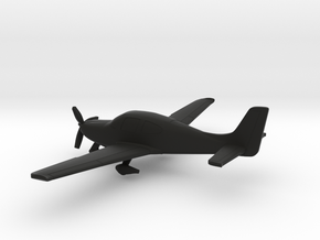 Cirrus SR22 in Black Natural Versatile Plastic: 1:144