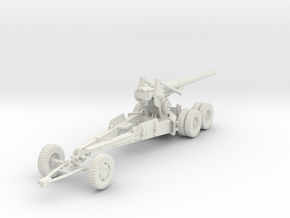 1/48 US 155mm Long Tom Cannon Travel Mode in White Natural Versatile Plastic
