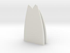 1:10 scale surfboard20 in White Natural Versatile Plastic