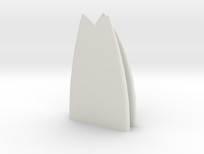 1:10 scale surfboard20 in White Natural Versatile Plastic