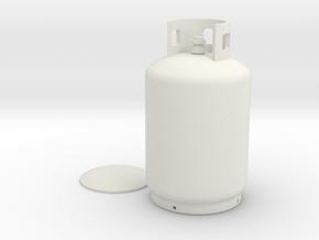 1:10 scale LPG can  in White Natural Versatile Plastic