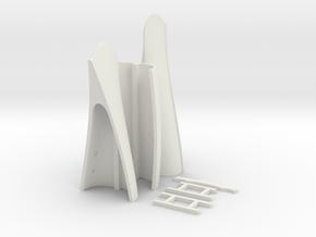 1:10 scale canoe35 in White Natural Versatile Plastic