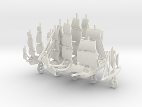 Custom Five-Ship Set Chain Version 1 in White Natural Versatile Plastic