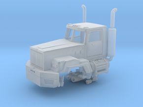 Western Star 6900 With Exhaust Parted 1-87 Scale  in Smooth Fine Detail Plastic