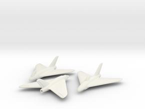 (1:144) Lippisch P.15 (3 different designs) in White Natural Versatile Plastic