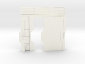 Starship Interior Left Door (wargaming) in White Processed Versatile Plastic