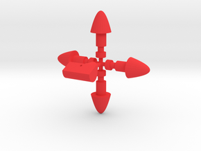 Mecha Acroyear Missiles in Red Processed Versatile Plastic
