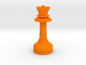 MILOSAURUS Chess MINI Staunton Queen in Orange Processed Versatile Plastic
