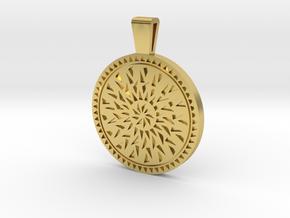 Mandala pendant in Polished Brass