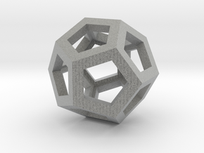 Dodecahedron in Metallic Plastic