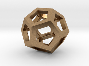 Dodecahedron in Natural Brass