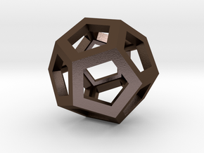 Dodecahedron in Polished Bronze Steel