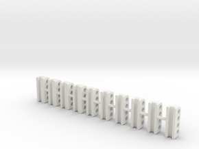 830-M Vario Tool pipe brackets in White Natural Versatile Plastic: 1:50