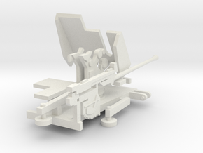 1/144 5cm Flak 41 German AA gun in White Natural Versatile Plastic
