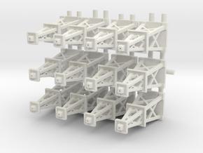 Oil Derrick x12 in White Natural Versatile Plastic