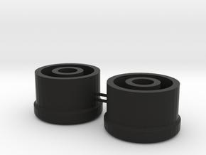 Side Mirror Adjuster Grips for a Scirocco MK1 in Black Natural Versatile Plastic