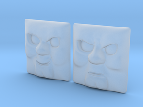 Arry/Bert Face Set #1+#2 [H0/00] in Smooth Fine Detail Plastic