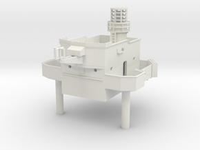 1/96 HMS Garland superstructure Bridge1 in White Natural Versatile Plastic