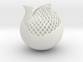 Vase TLP1211 in White Natural Versatile Plastic