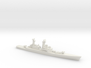 USS CGN-25 Bainbridge, 1990 layout, 1/700 in White Natural Versatile Plastic