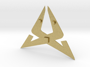 Cupra Logo for Steering Wheel - Front Part in Natural Brass