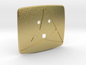 Cupra Logo for Steering Wheel Logo - Back in Natural Brass
