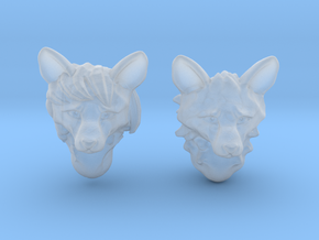 Anthropomorphic fox heads(HSD miniatures) in Smooth Fine Detail Plastic