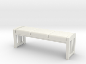 Bench in White Natural Versatile Plastic