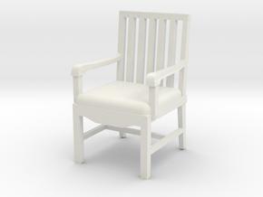 Arm Chair in White Natural Versatile Plastic