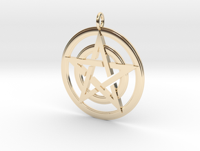 Pentacle Pendant - Circles in 14K Yellow Gold