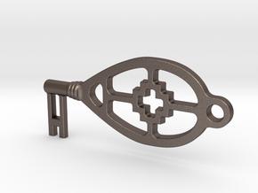 sleutel in Polished Bronzed Silver Steel