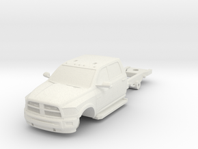 1/87 Dodge 4 Door Long Medic/Ambulance Chassis in White Natural Versatile Plastic