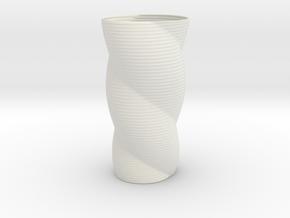Chord Vase Redux in White Natural Versatile Plastic