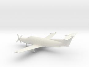 Pilatus PC-12 in White Natural Versatile Plastic: 1:100