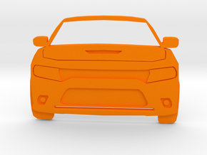 Dodge Art: Modern Charger Toothpaste Pusher in Orange Processed Versatile Plastic