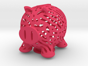 Nature Made Piggy Bank in Pink Processed Versatile Plastic